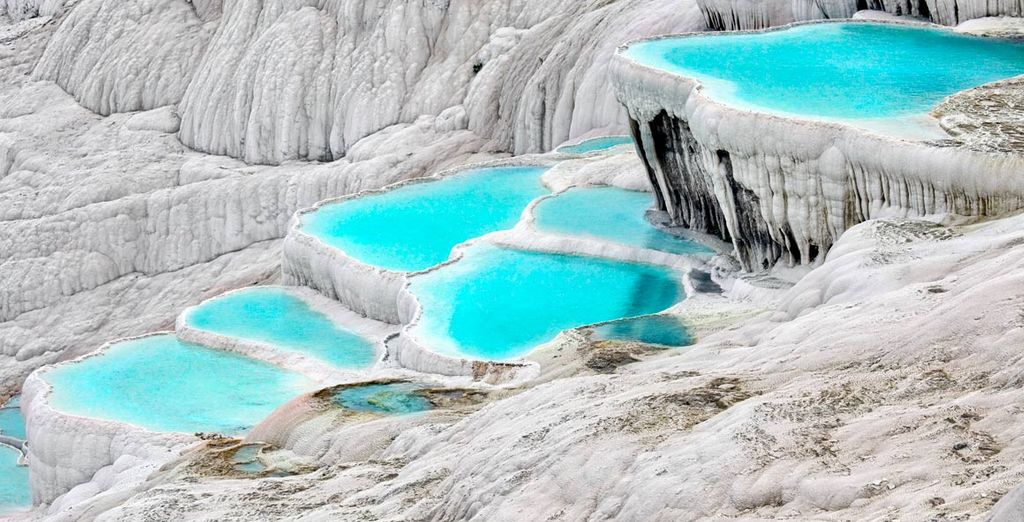 Las piscinas de travertino en Pamukkale
