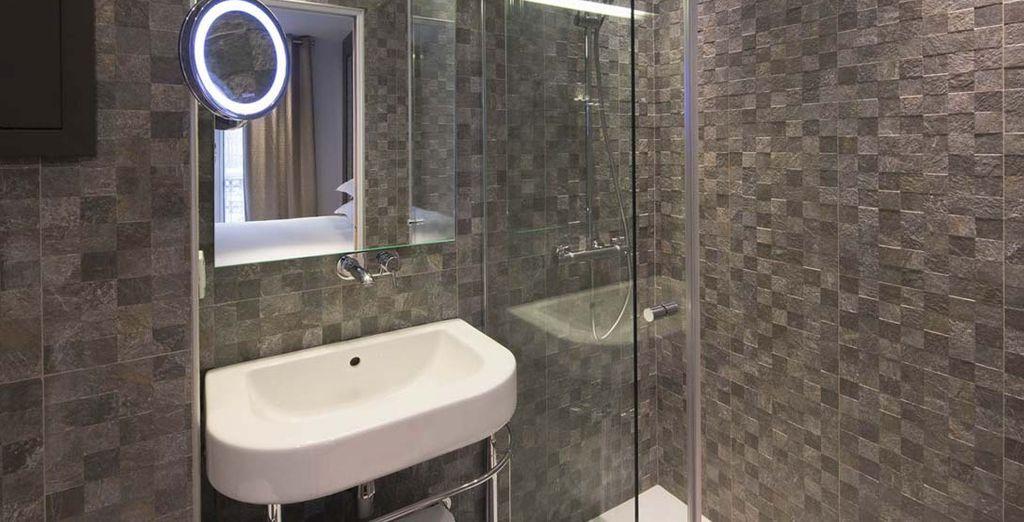 And each has a stylish modern bathroom