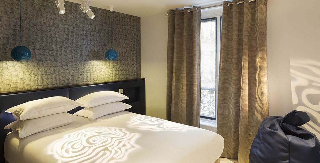Each room is individually styled