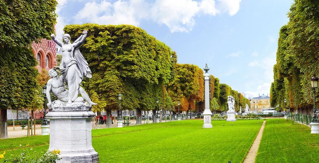 Or maybe you'd prefer to visit the palatial Luxembourg gardens