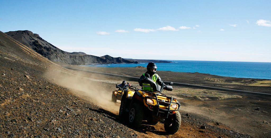 Which you can explore on a thrilling All Terrain Vehicle!