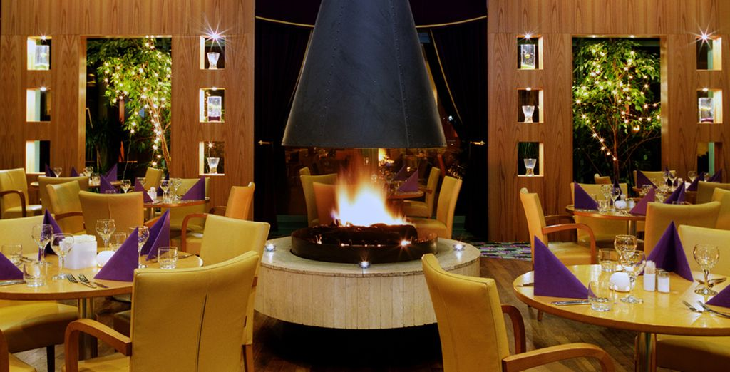Dine by the warm fire in cosy surroundings