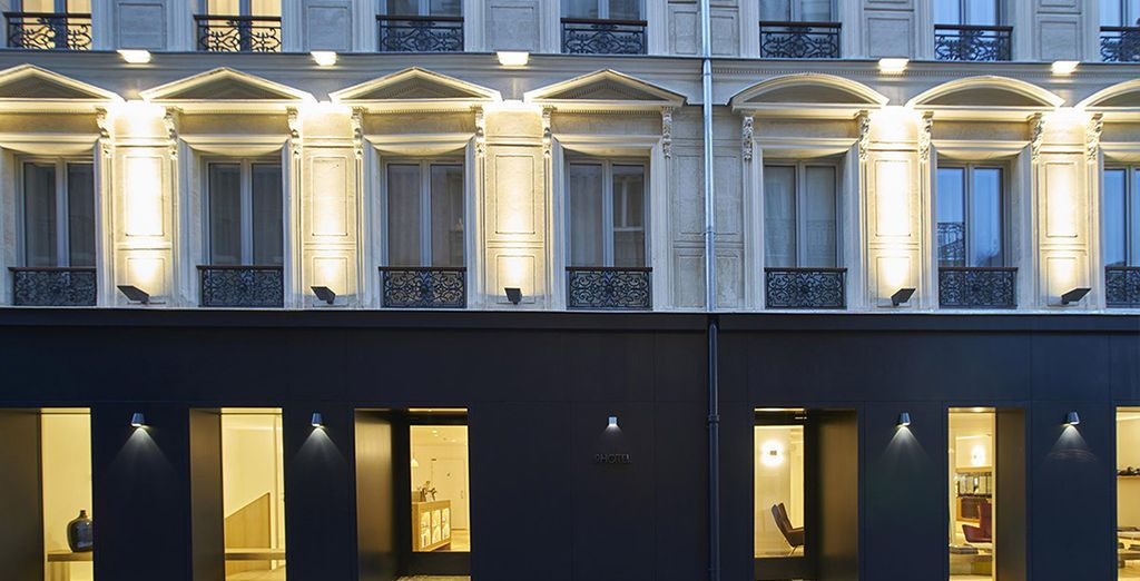 The exterior might be classically Parisian but inside its all about contemporary style