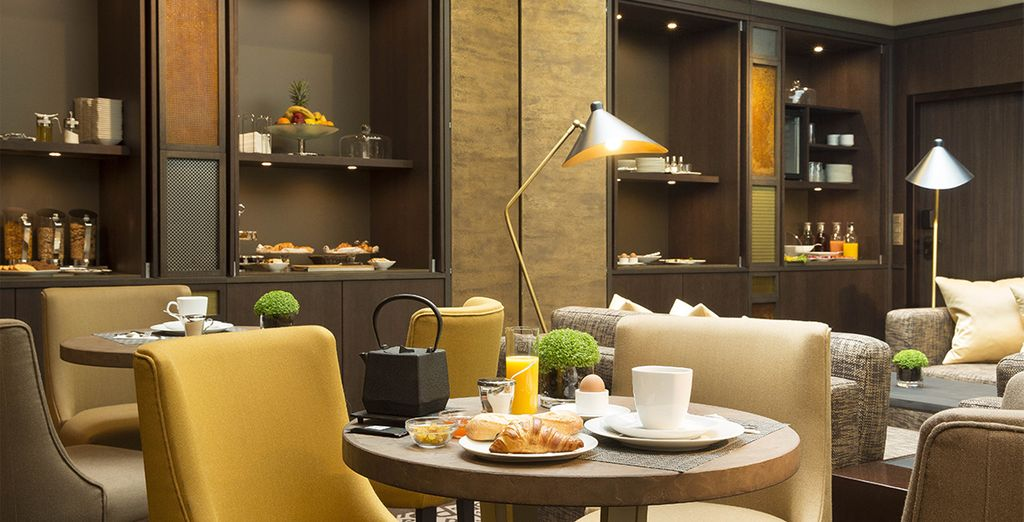Wake up to a refreshing continental breakfast each day