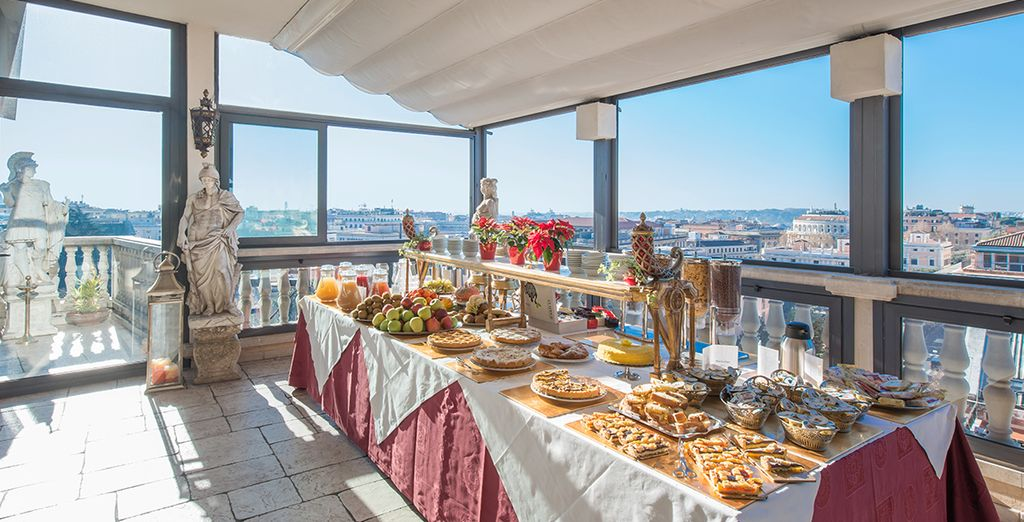Starten Sie mit einem reichhaltigen Frühstück in einen sonnigen Tag
