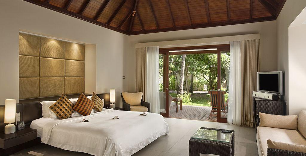 Übernachten Sie in einer eleganten Garten Villa