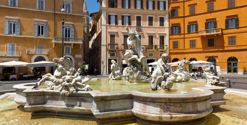 ... Und der Piazza Navona, um nur ein paar zu nennen