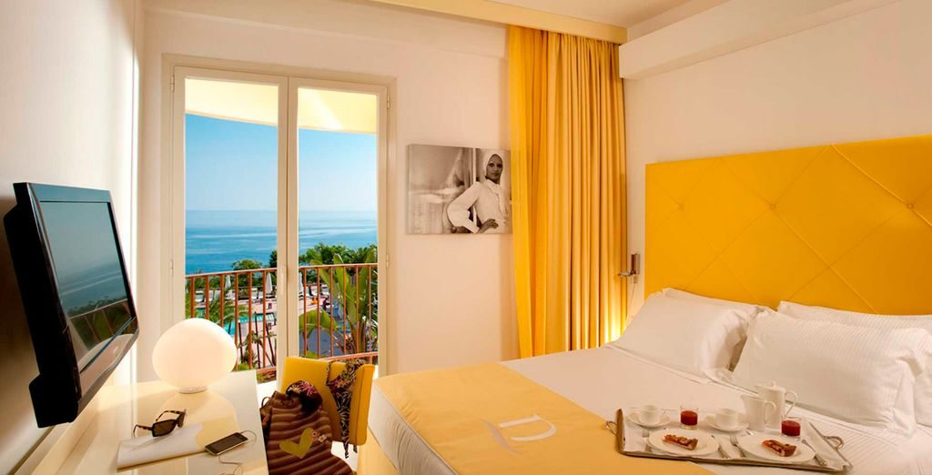 Oder entscheiden Sie sich für ein Prestige Zimmer mit Meerblick