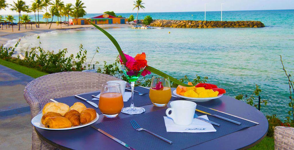 Und genießen Sie das kostenlose Frühstück am nächsten Morgen