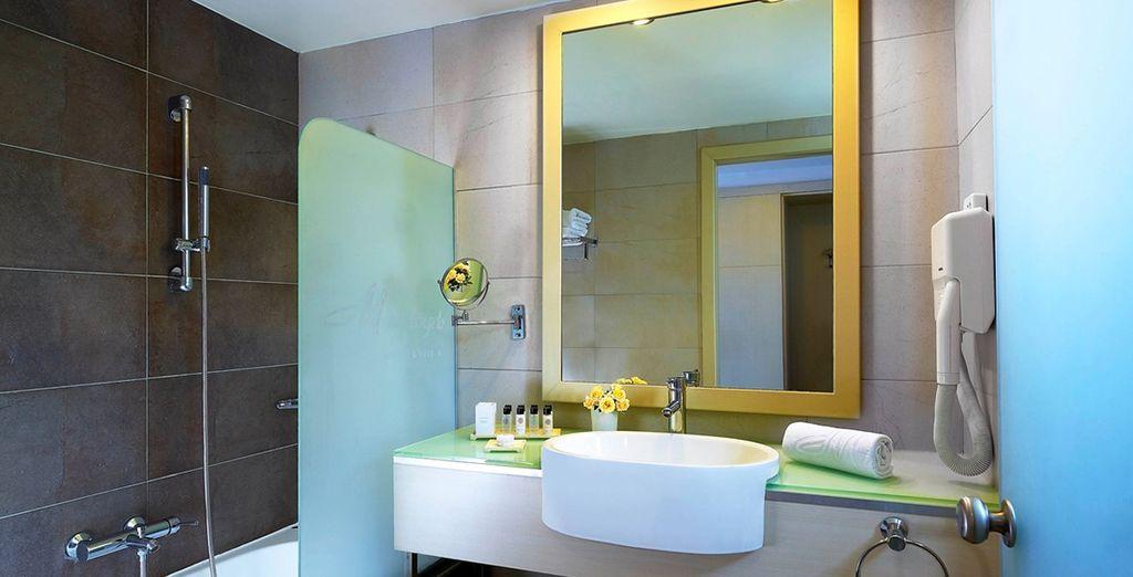 Mit toller Ausstattung im eigenem Badezimmer