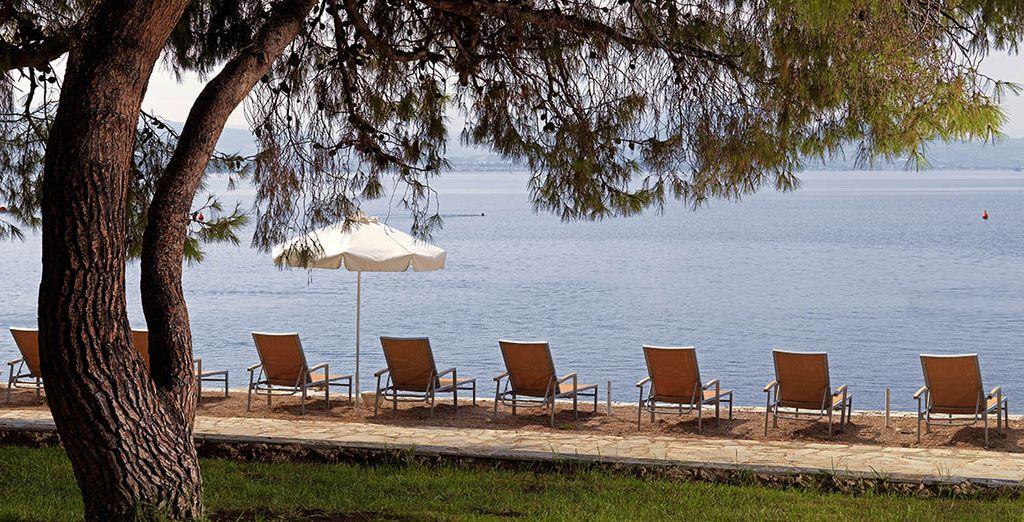 Direkt an der griechischen Küste