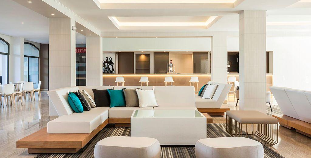Entspannen Sie sich in einem modernen Interieur