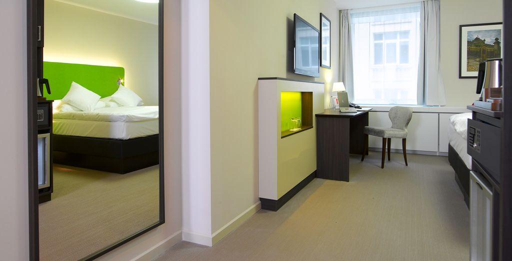Ihr Zimmer ist modern und stilvoll