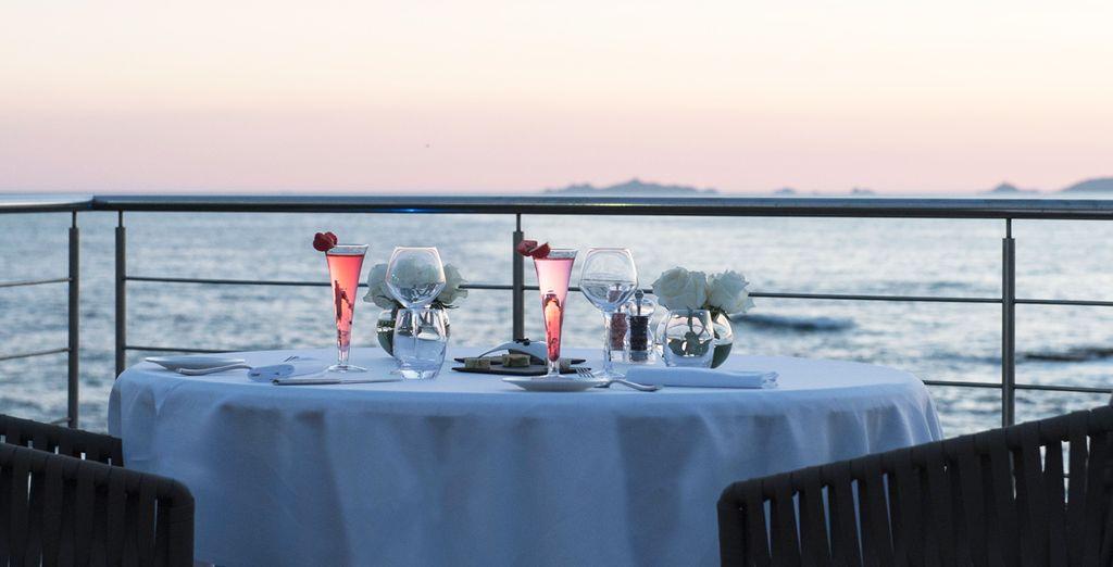 Und genießen Sie romantische Momente auf der Terrasse...
