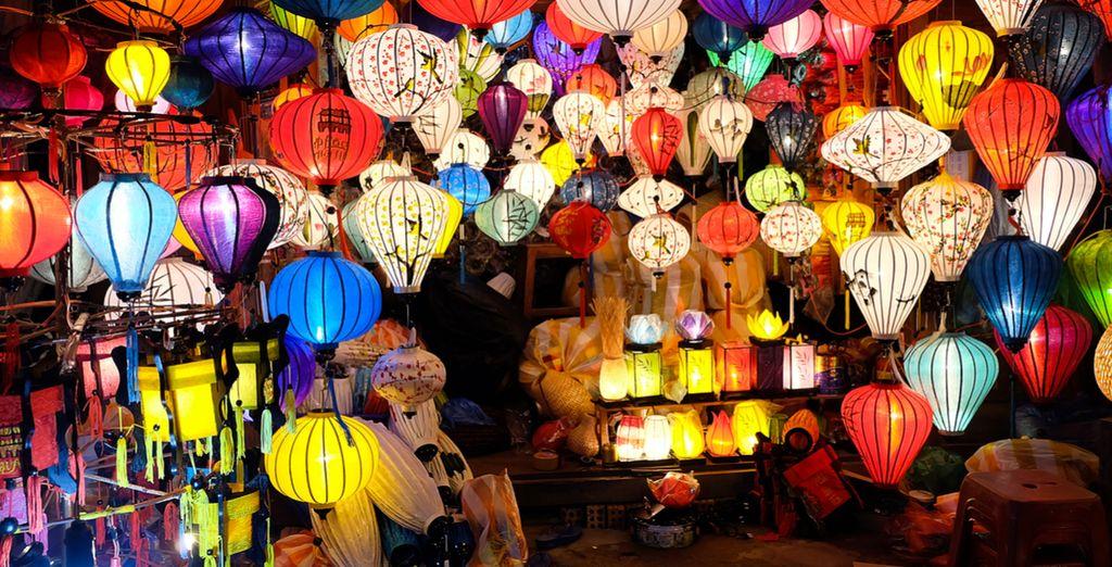 Flanieren Sie über die Märkte von Hoi An