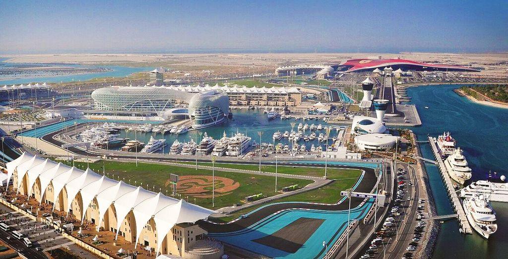 Geniessen Sie das letze Formel 1 Rennen der Saison in einer atemberaubendenUmgebung!