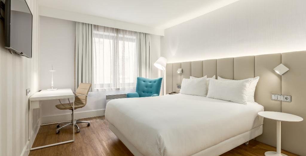 Ihr Zimmer ist modern mit klaren Linien