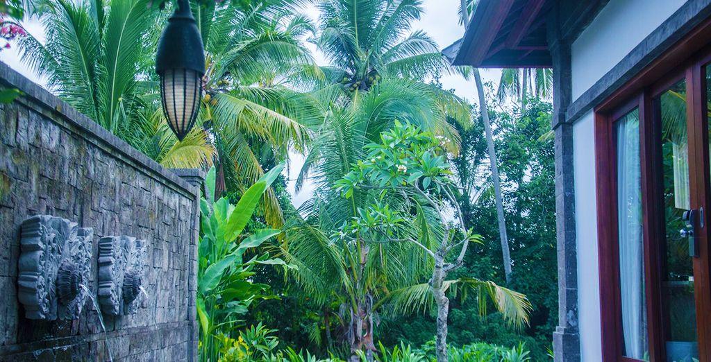 Machen Sie es sich in Ihrer tropischen Unterkunft gemütlich