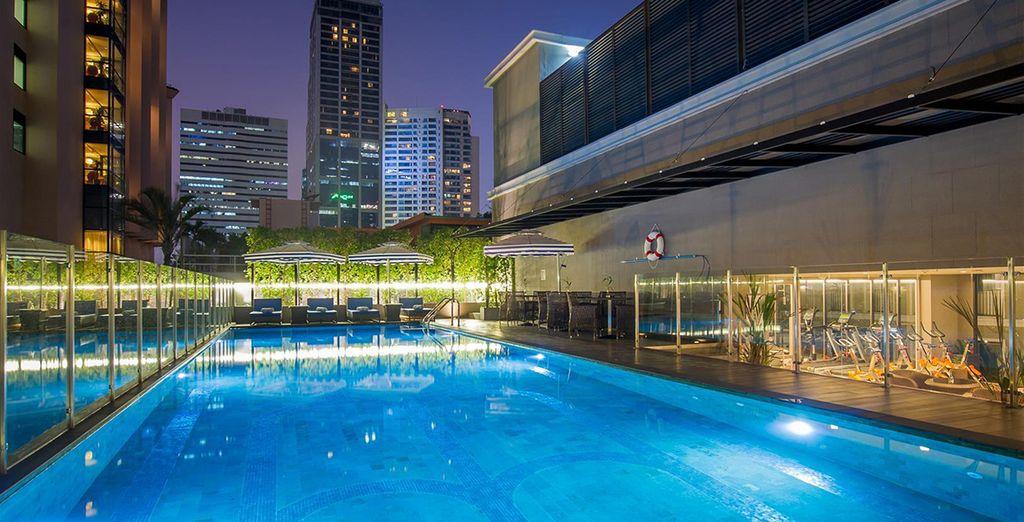 Sie übernachten im Hotel Well Bangkok Sukhumvit 20 in einem modernen Viertel