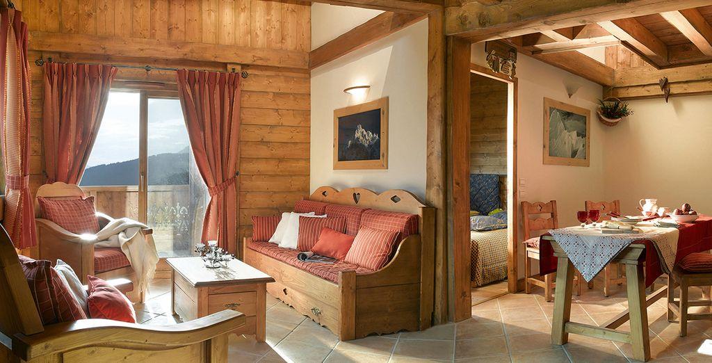 Entdecken Sie Ihr schönes Apartement im schicken alpinen Design