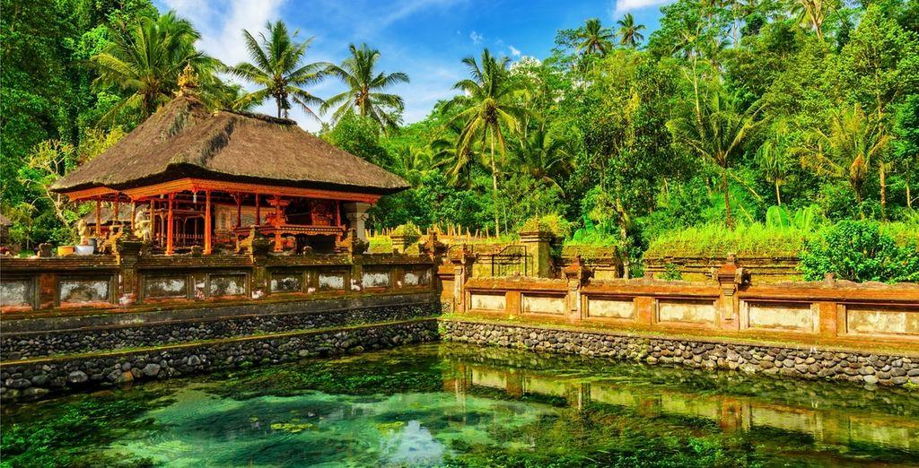 Besuchen Sie den Tirta Empul Tempel