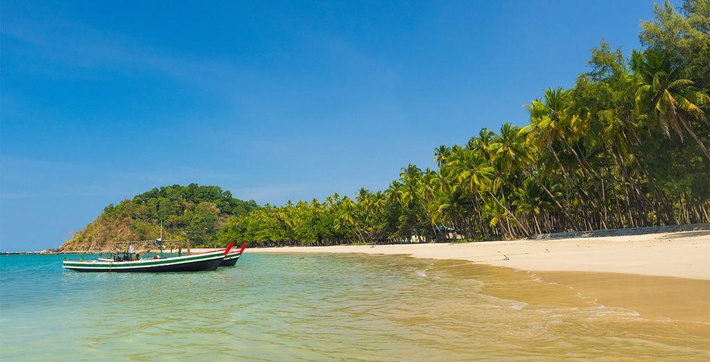 Entdecken Sie Ngapali und seine langen Strände mit weißen Sand...