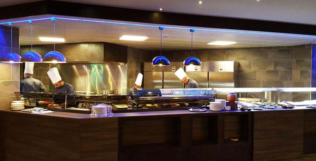 Im Sapori del Mondo Restaurant mit offener Küche