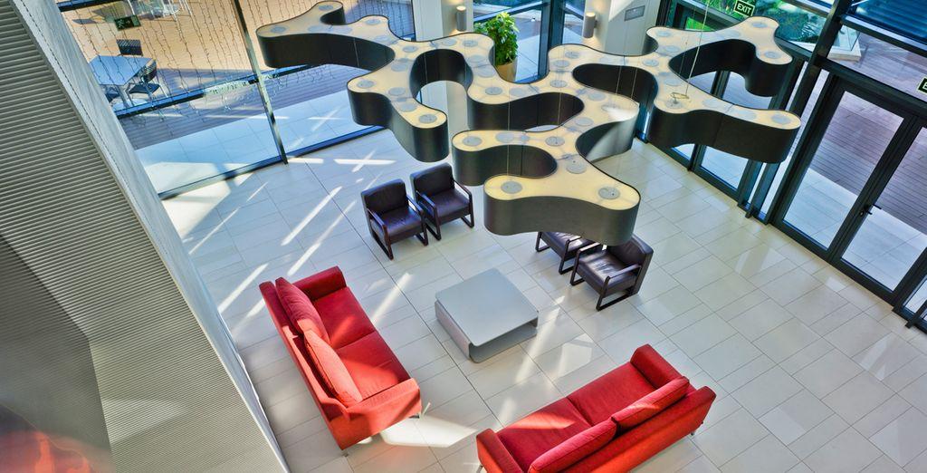 Ein Hotel mit modernem und zeitgenössischem Design