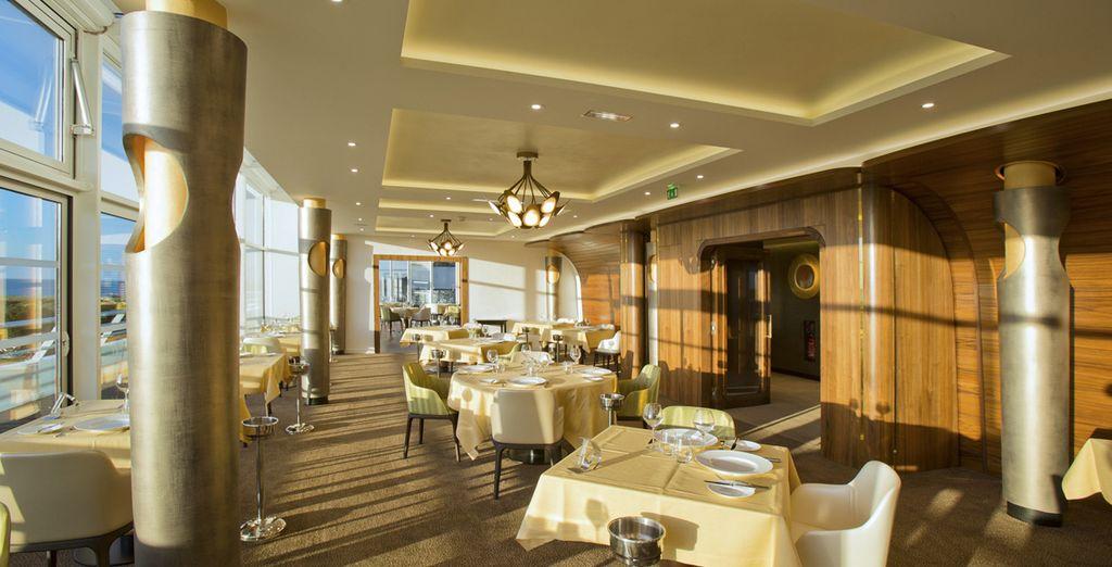 ... können Sie die Gourmetküche des Hotels kosten