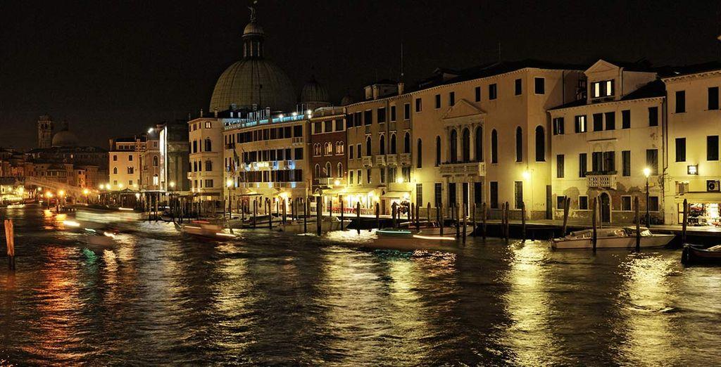 ...von wo aus Sie die wunderschöne Umgebung Venedigs bewundern können