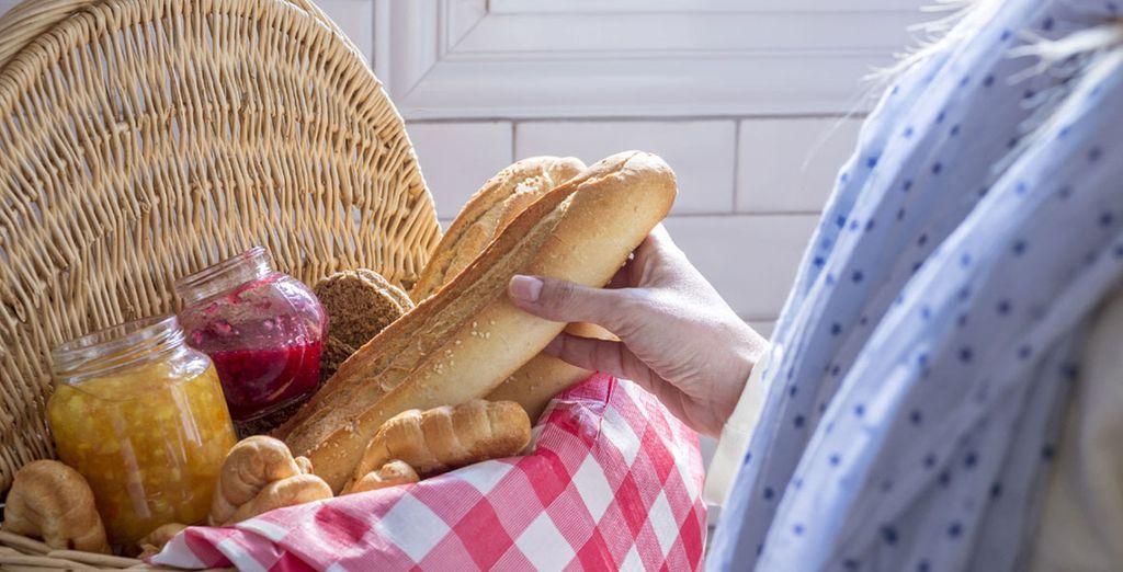 Jeden Morgen steht für Sie ein leckeres Frühstück bereit