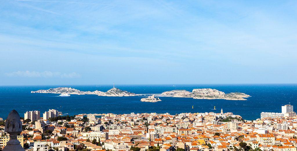 Das Hotel liegt in der Küstenstadt Marseille