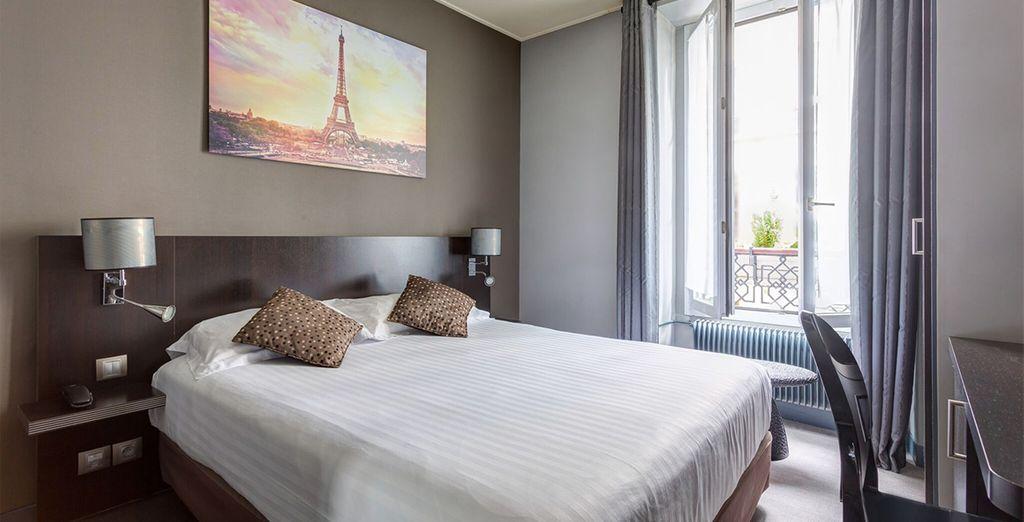 Ihr Zimmer ist einfach aber elegant eingerichtet