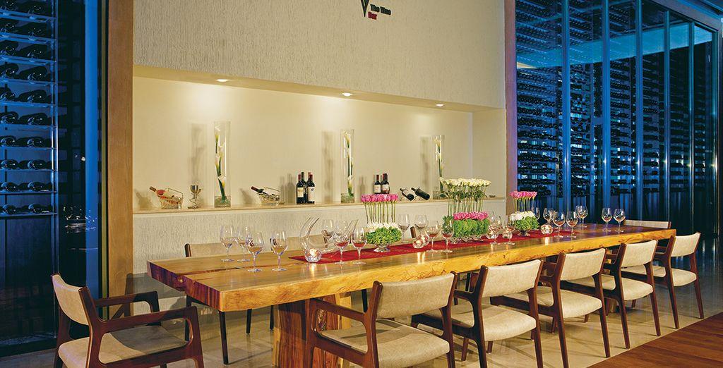 Sie können sich auch im The Vine Café Ihre Speisen geniessen ...