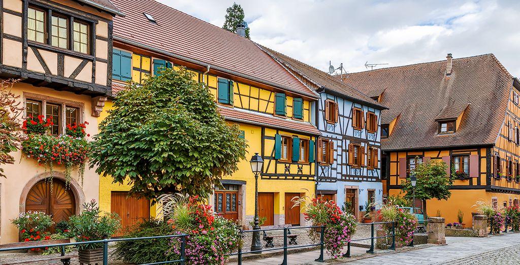 Die typischen Häuser im Elsässer Stil