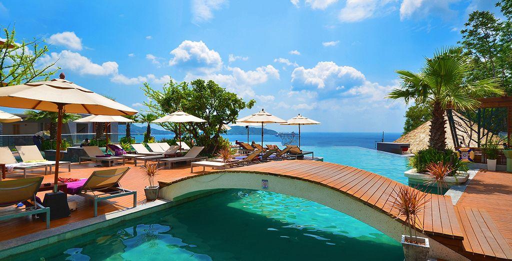 Genießen Sie den herrlichen Blick über die Andamanensee