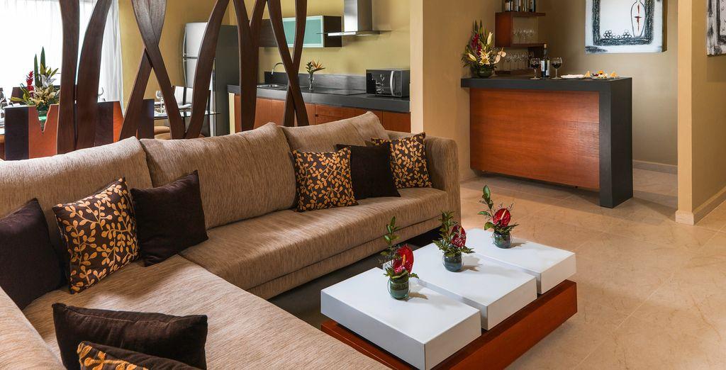 Die luxuriösen Räume