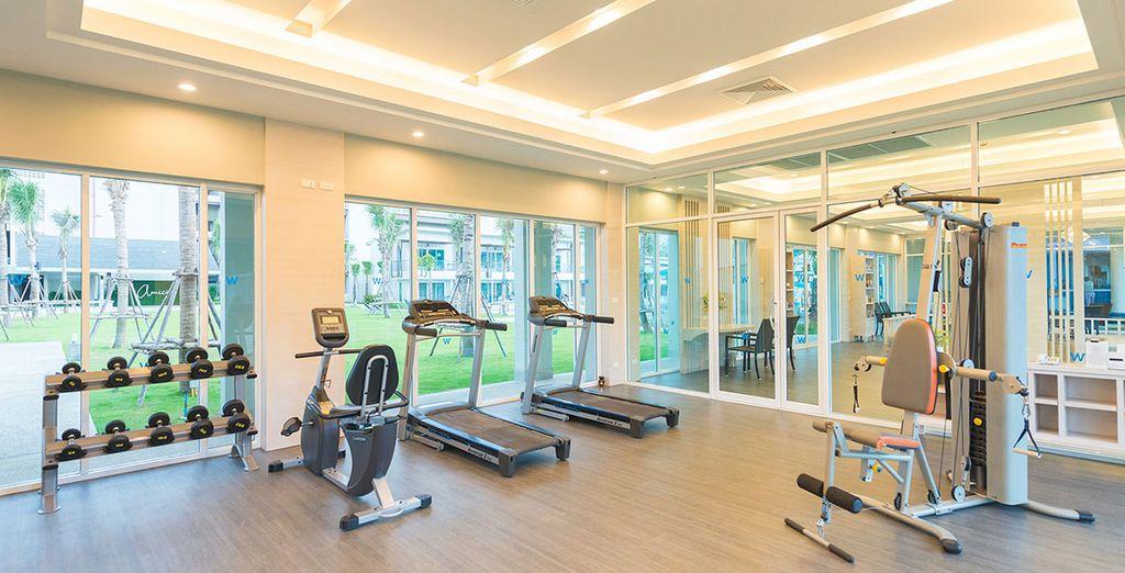 Werden Sie im Fitnessraum aktiv