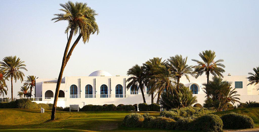 Genießen Sie einen Moment auf dem Golfplatz von Djerba....