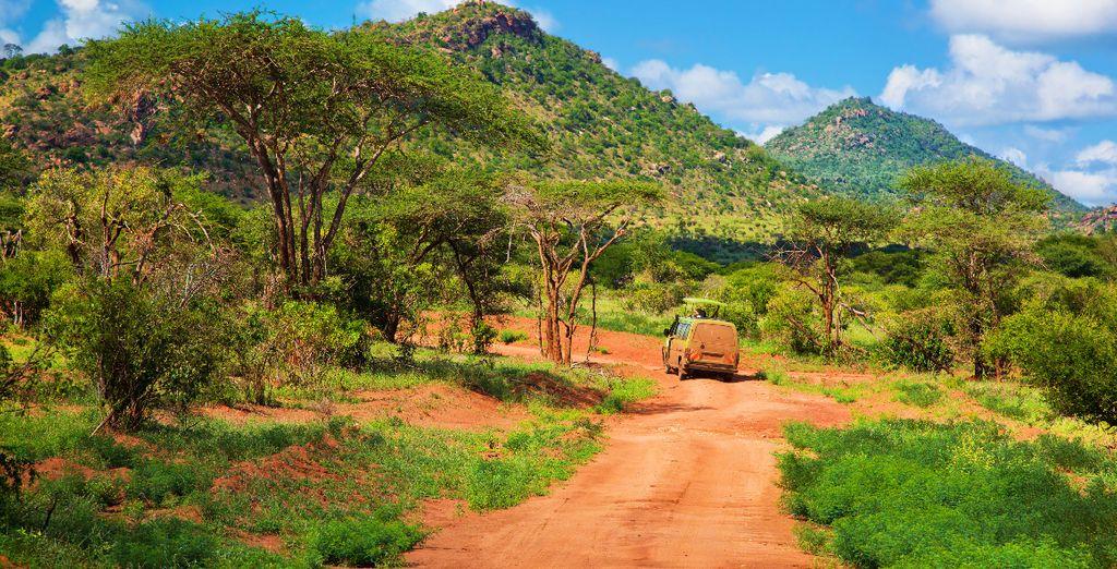 Entdecken Sie die Gegend um Tsavo East