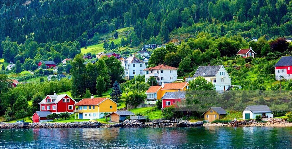 Explore the fjordside village of Balestrand