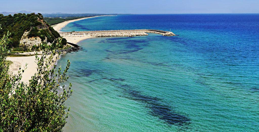 Das kristallklare Wasser und der schöne Strand