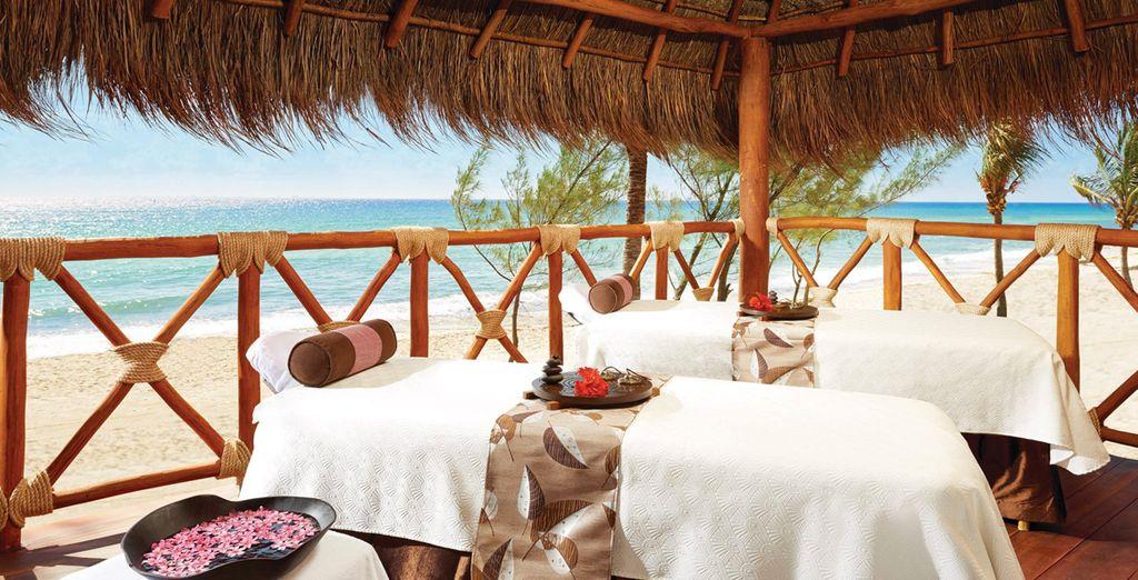 Und eine entspannende Massage am Meer genießen
