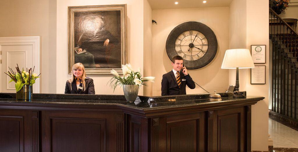 Das Hotelpersonal steht Ihnen freundlich zur Verfügung