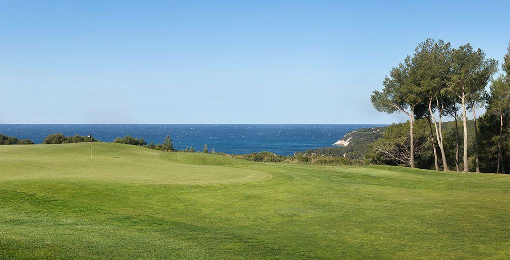 Genießen Sie die wunderschöne Lage zwischen Golf...
