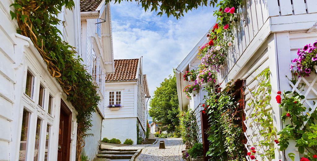 Entdecken Sie Norwegen und seine bunten Straßen während Ihres Urlaubs