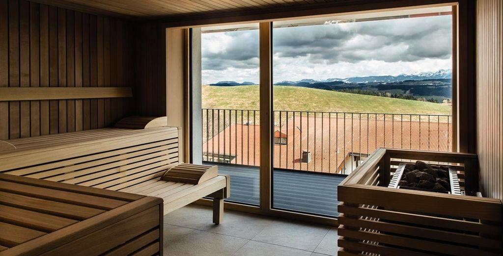 Sauna mit herrlichem Blick auf den Bodensee