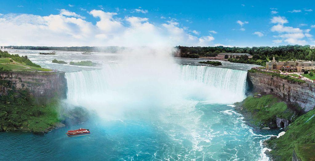 Kommen Sie den majestätischen Niagarafällen näher