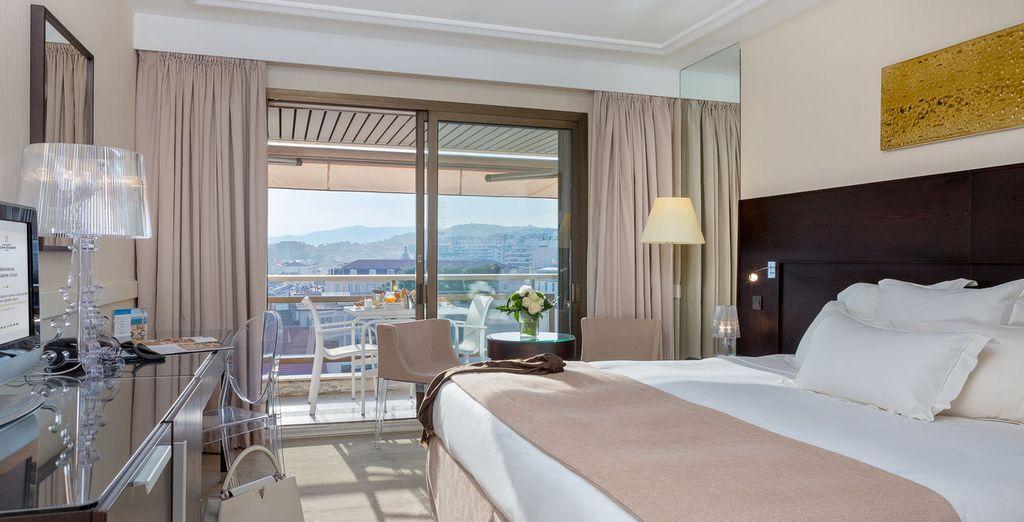 Oder in einem Prestige Zimmer mit Terrasse