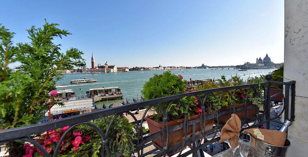 Sie haben einen wunderschönen Ausblick von der Terrasse